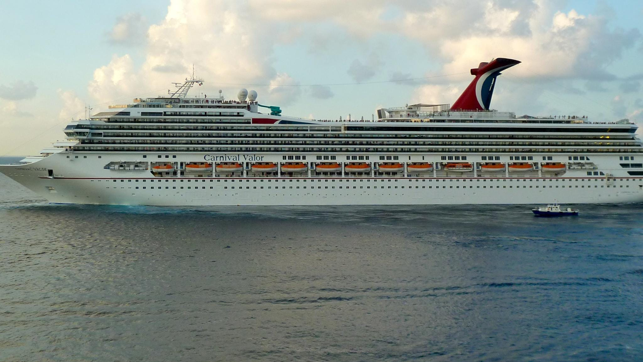 Carnival Valor is 952 feet long, has a beam of 116 feet and a draft of 27 feet. The vessel is manned by an international crew and staff numbering 1,180.