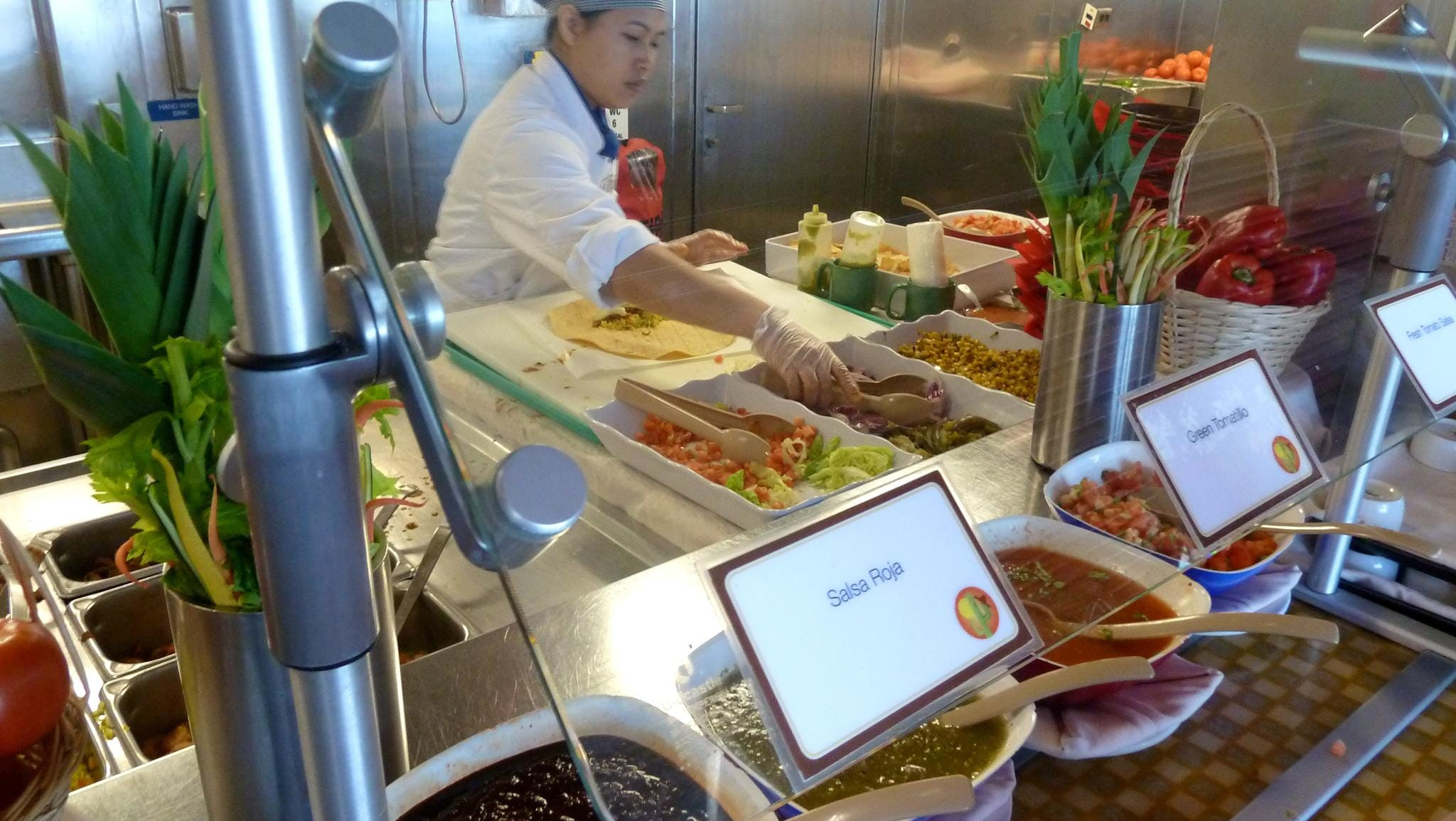 Rosie's even has a Burrito Bar with freshly prepared ingredients and several kinds of salsa.
