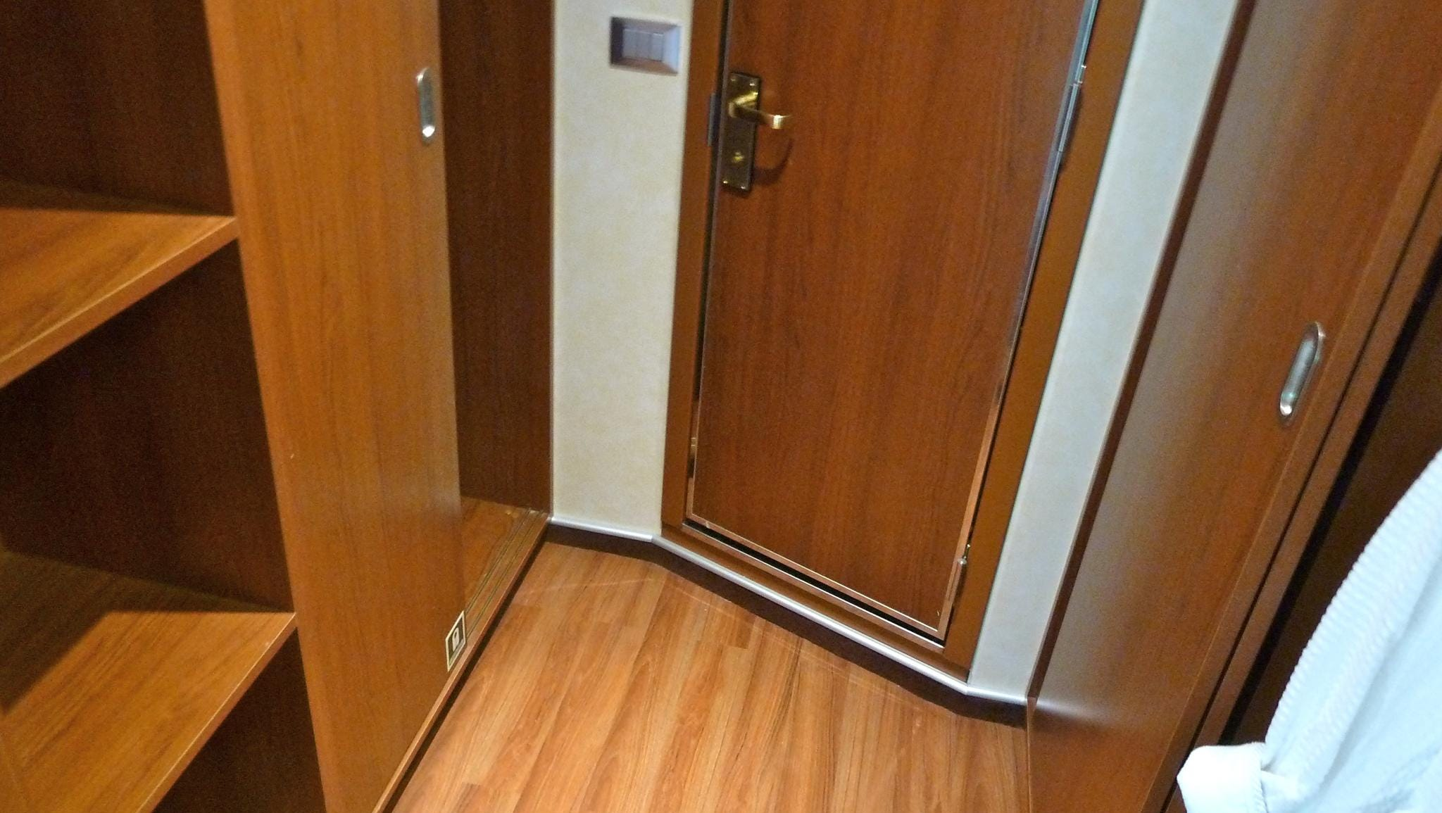 Junior Suites have a small walk-in closet that leads to the bathroom.