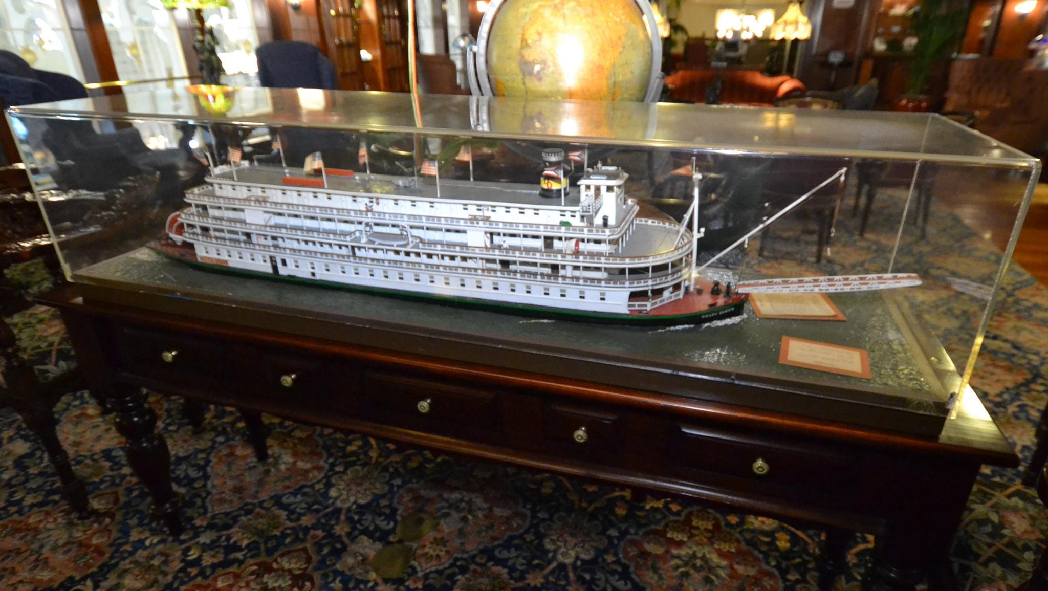 A highlight of the Mark Twain Gallery is a model of the 1920s-era Delta Queen, which sailed alongside the American Queen until 2008.