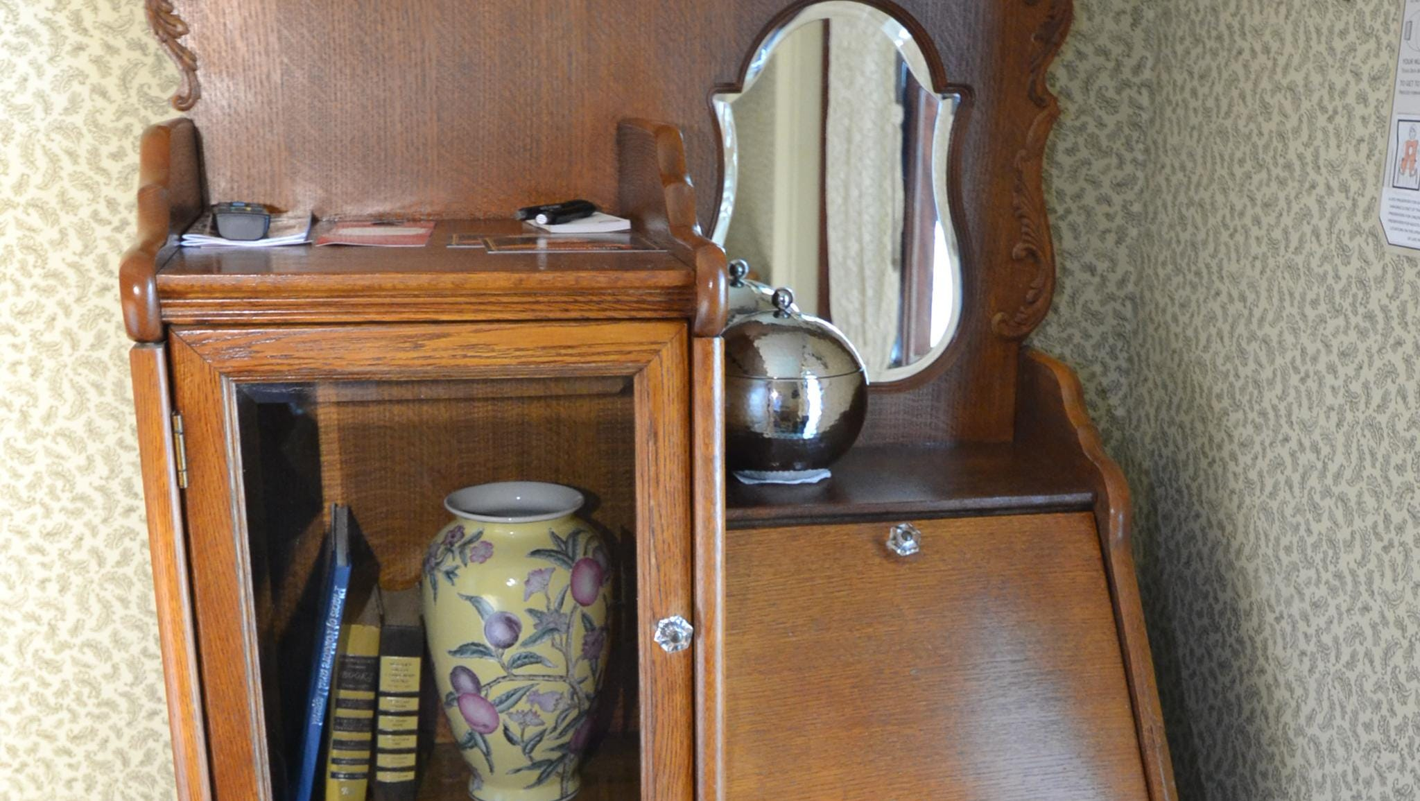 Instead of the built-in desks and storage areas found on many modern river ships, most of the American Queen's cabins feature free-standing furniture.