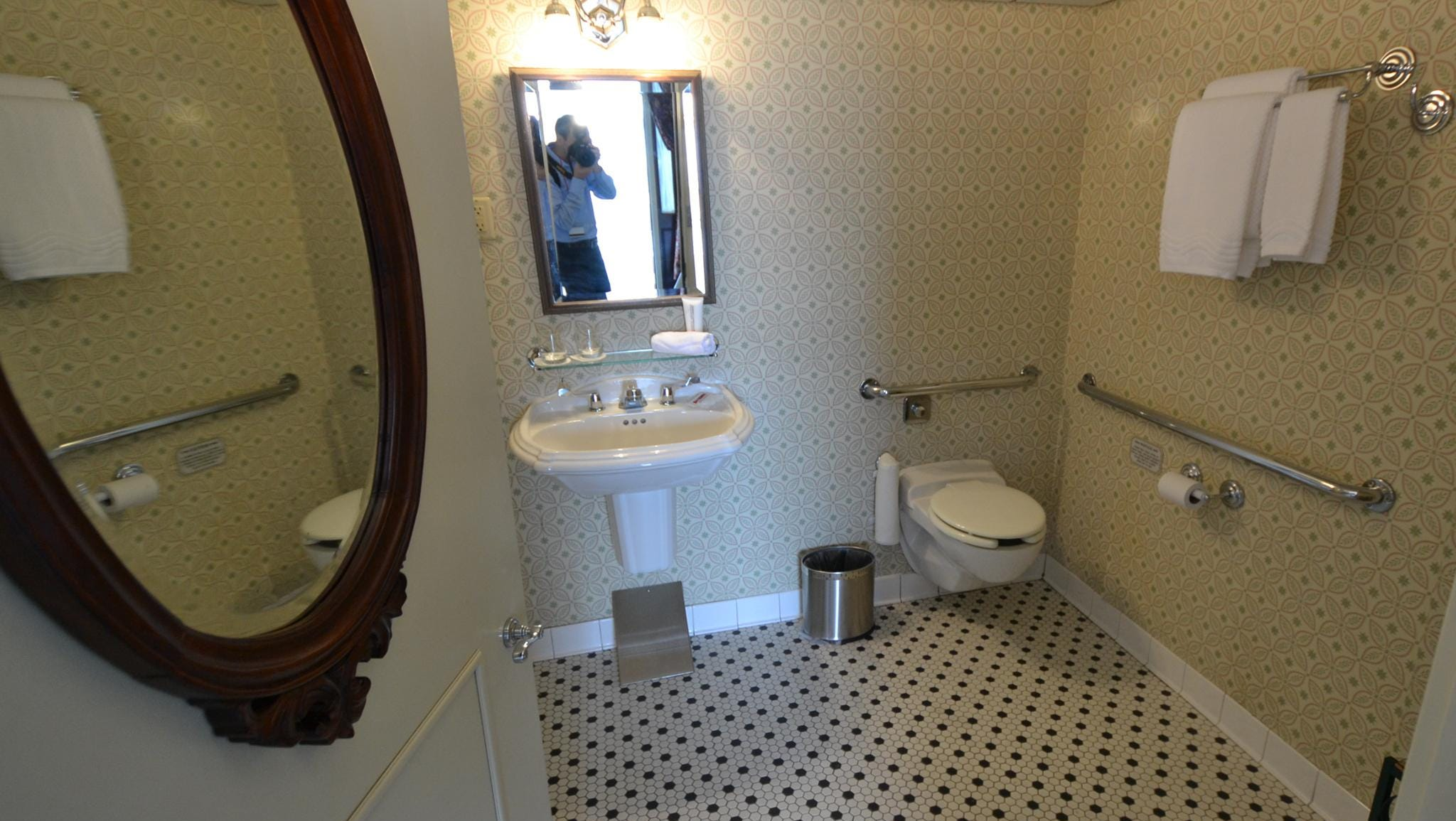 The California room's bathroom is designed for passengers with disabilities.