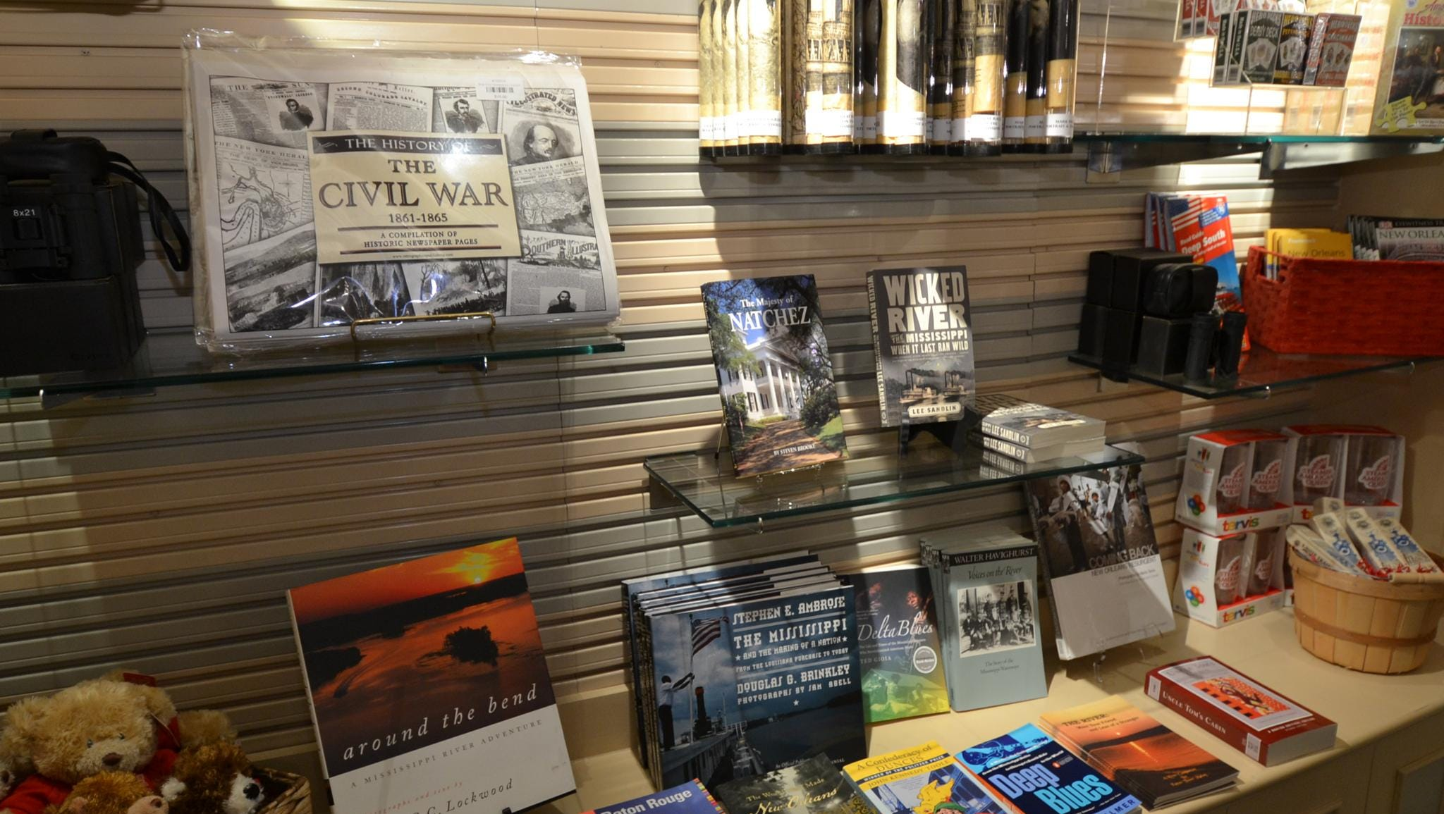 Books about the history of steamboats and America's waterways are available in the A.Q. Emporium store.
