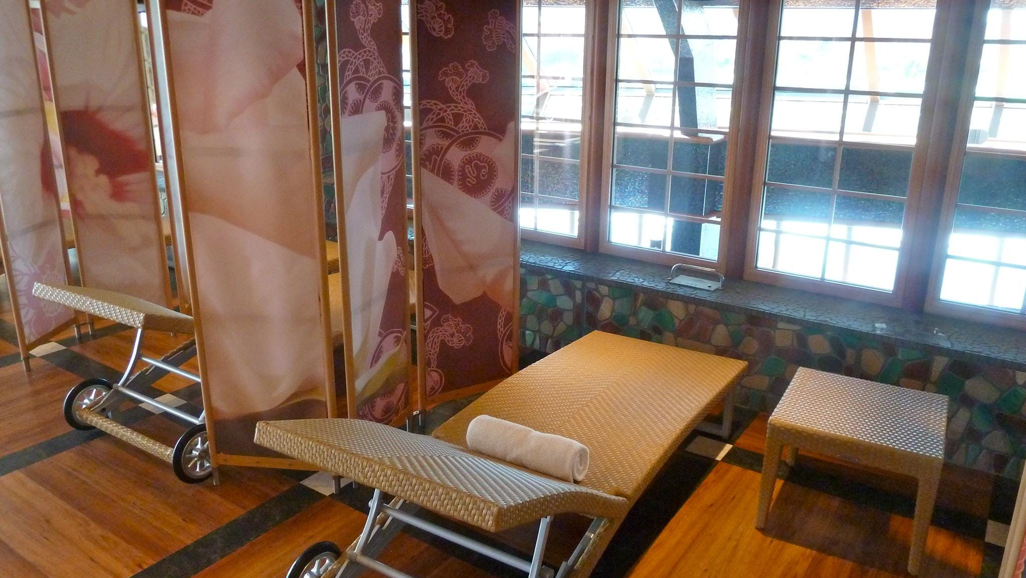 This is one of the tanning beds in the Samsara Spa's Solarium.