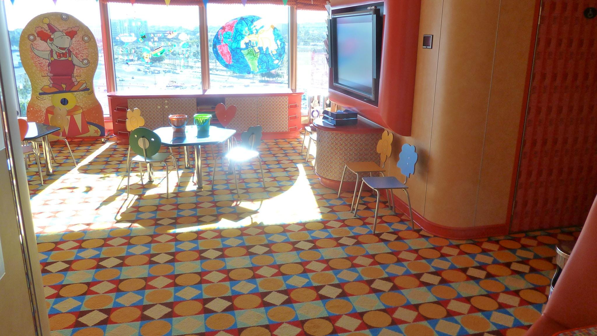Club Squok is the children's playroom on port Magnolia Deck.