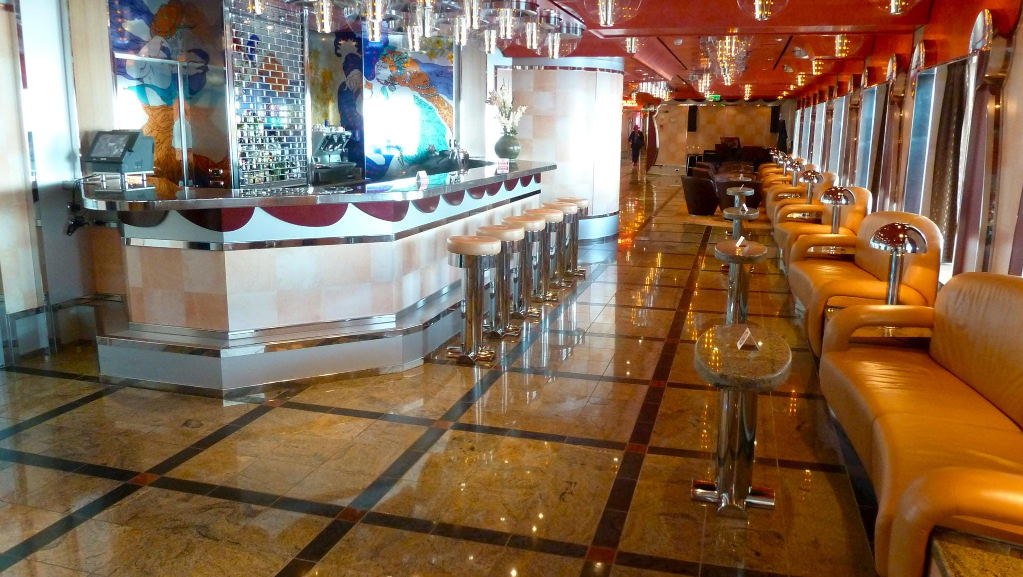 This is a forward-facing view of Bar Alcazar.