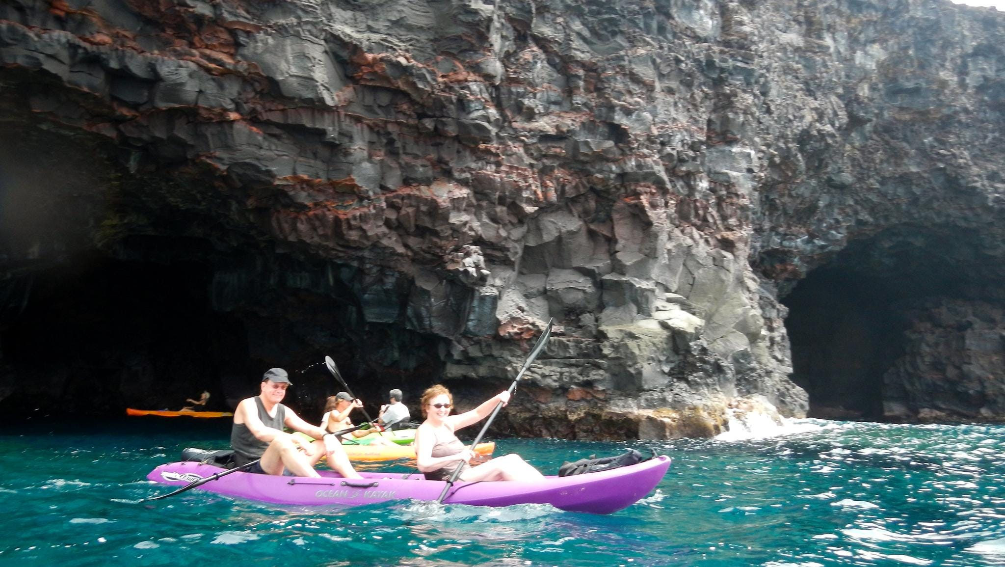 Hawaiian itineraries provide opportunities to kayak along the rugged volcanic coastline of Kona, which has a number of sea caves and interesting lava formations.