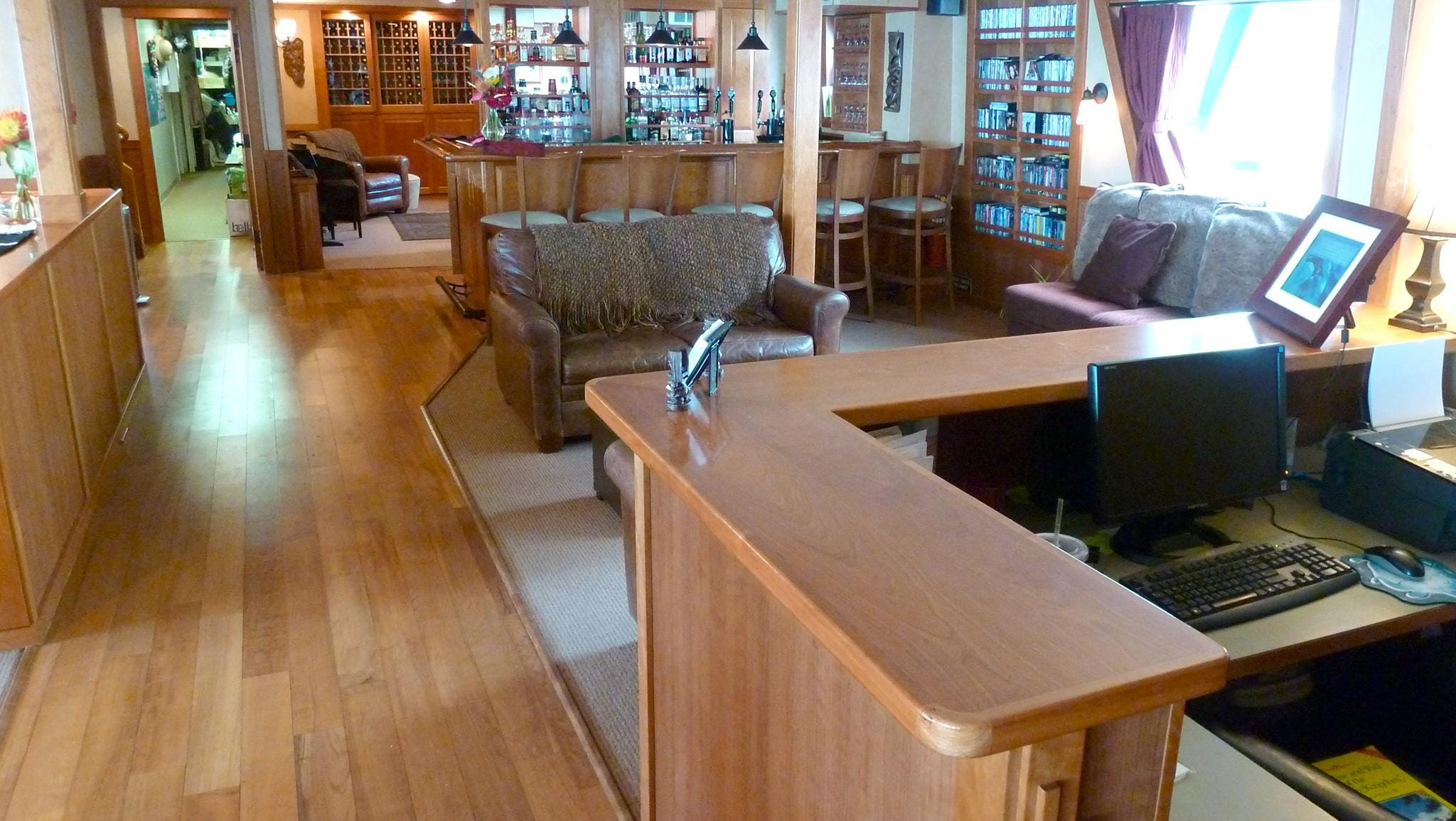 A guest relations desk is located at the aft end of the public spaces on Main Deck.
