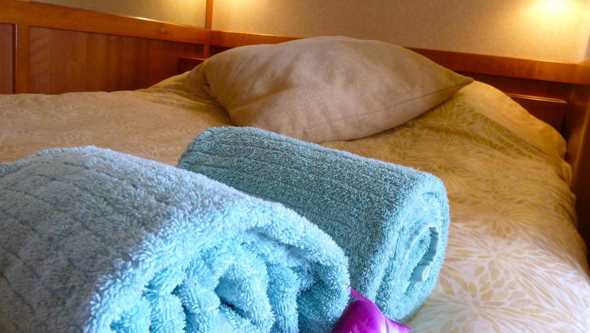All bedding on the Safari Explorer is Tempur-Pedic topped and features comfy duvets.