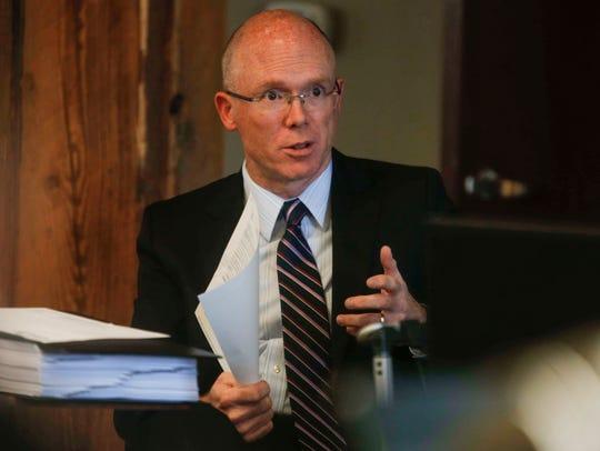 Former House Speaker Chris Rants gave testimony on