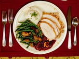A typical Thanksgiving dinner plate.