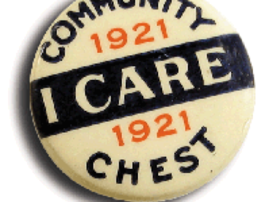 Sharing the sentiment from the early days of what was then the Community Chest.