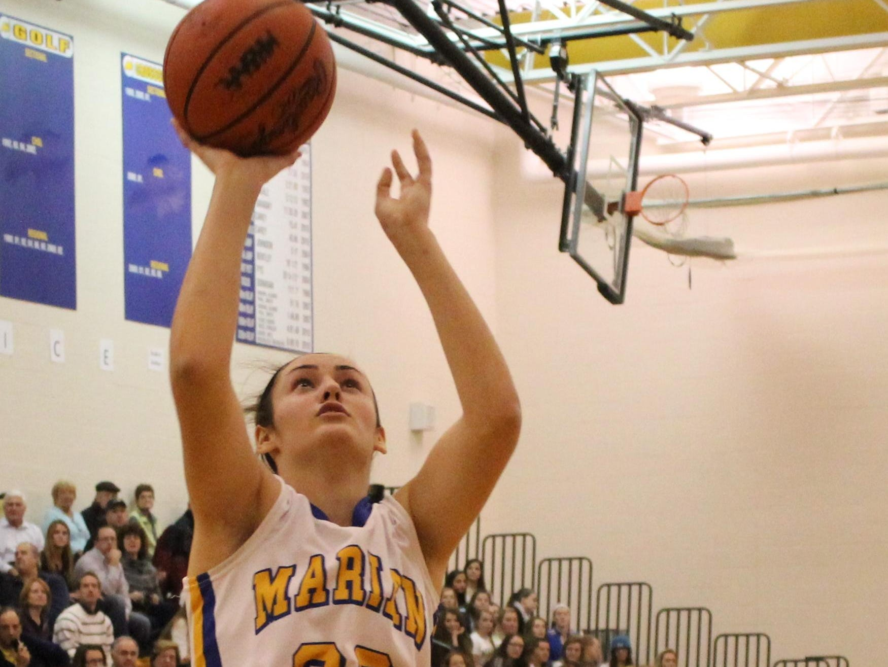 Brittany Gray was instrumental in Marian winning consecutive Class A state titles.