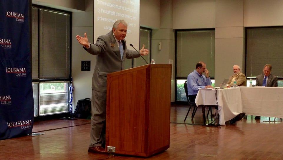 Louisiana College President Rick Brewer on Monday tells