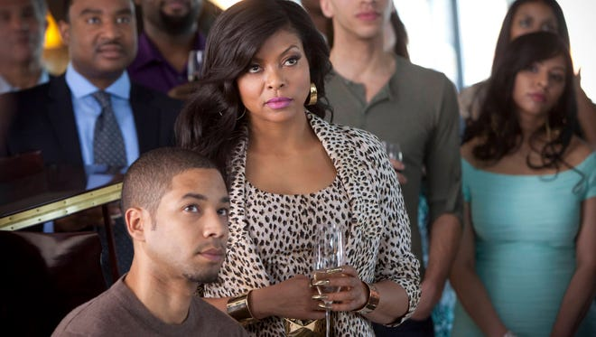 """Jussie Smollett as Jamal, left, and Taraji P. Henson as Cookie on Fox's """"Empire,"""" which is a hit with young-adult viewers."""