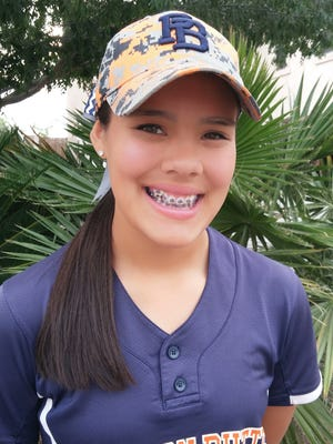 Lindsay Lopez plays softball for San Tan Valley Poston Butte.