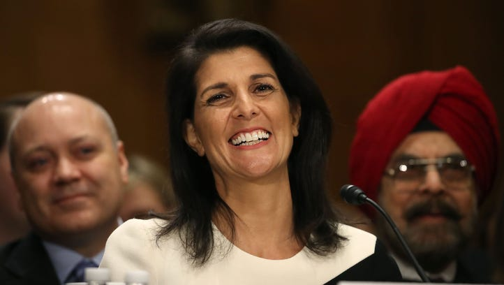 S.C. Gov. Nikki Haley speaks during her Senate Foreign Relations Committee confirmation hearing on Jan. 18, 2017, in Washington, D.C.