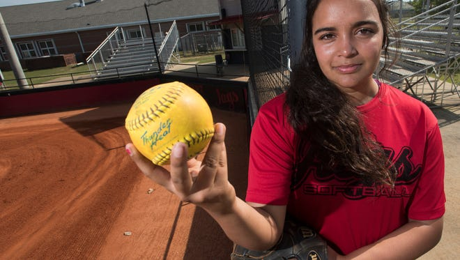 West Florida High School sophomore, Jeya Prasad, is hoping to lead the Lady Jags softball team to the post-season with her pitching prowess.