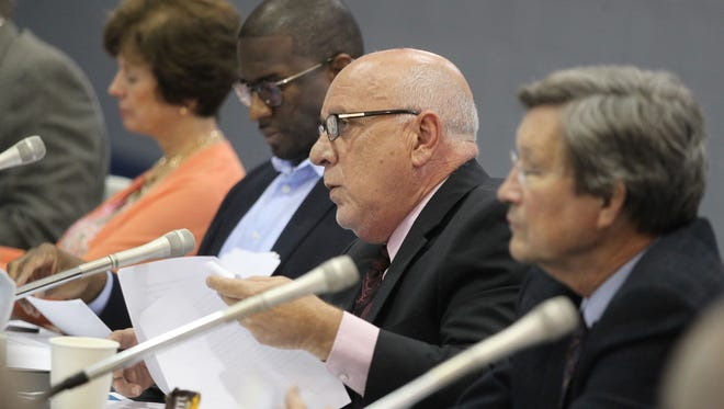 Tallahassee City Manager Rick Fernandez speaks at a city budget workshop at the Walker Ford Community Center in June. The City Commission passed an $843 million budget on Wednesday evening.