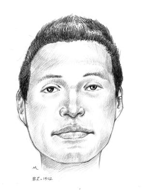 Sketch of missing person found June 20, 1987, near 7th Avenue and West McKinley Street in Phoenix.