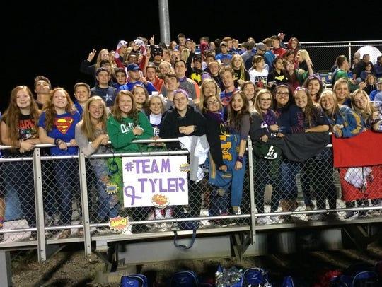 West Muskingum students support Team Tyler.