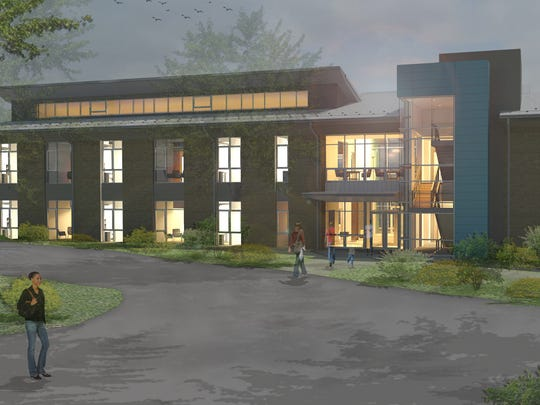 The planned 15,000-square-foot academic building will