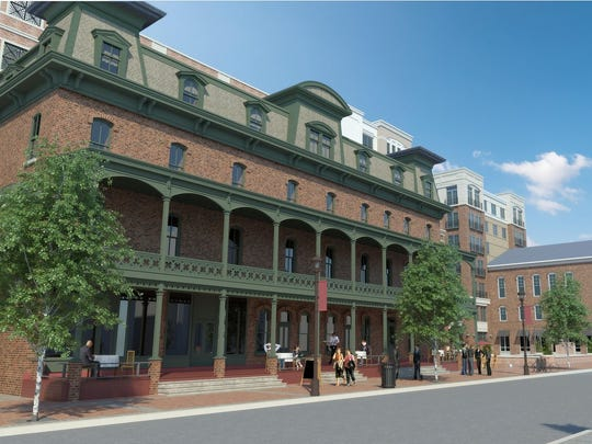 The revised redevelopment for the Union Hotel retains the facade of the 19th-century building.