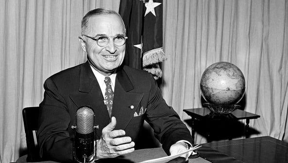 Former president Harry Truman in 1945.