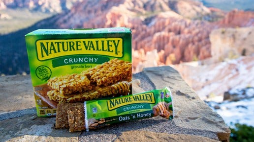 A box of Nature Valley granola bars.