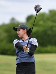 Alison Gastelum tees off on hole No. 12 during the