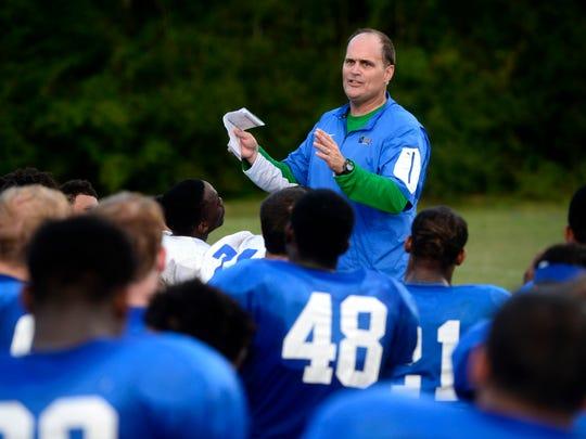 University of West Florida football coach Pete Shinnick