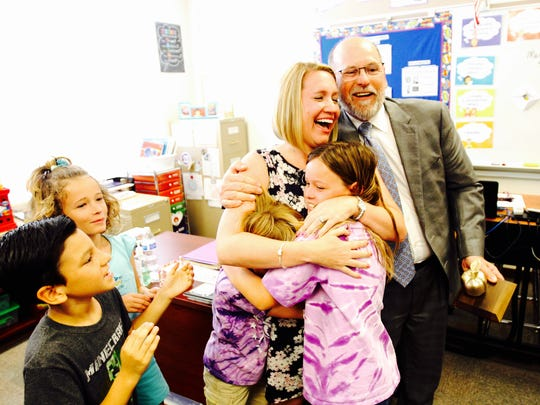 Heights Elementary School second grade teacher, Monica Nelson is a  2016 Golden Apple winner.