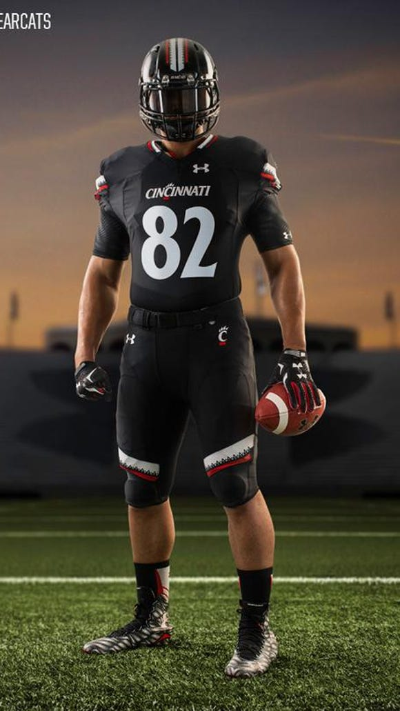 competitive price e4c1a 426f3 UC reveals new Under Armour football uniforms