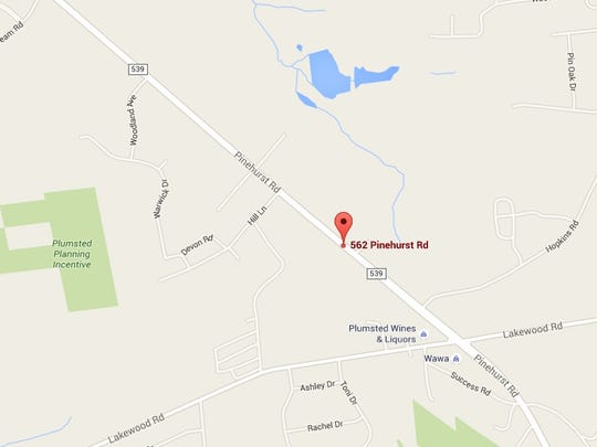 Authorities say the crash occurred in this area on