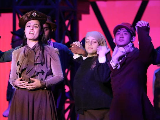 The cast of Ragtime during dress rehearsal at Stepinac