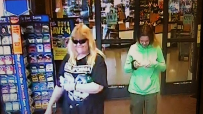 Clarksville Police are looking for two people caught on surveillance tape at Kroger after trying to use a credit card stolen from a car.