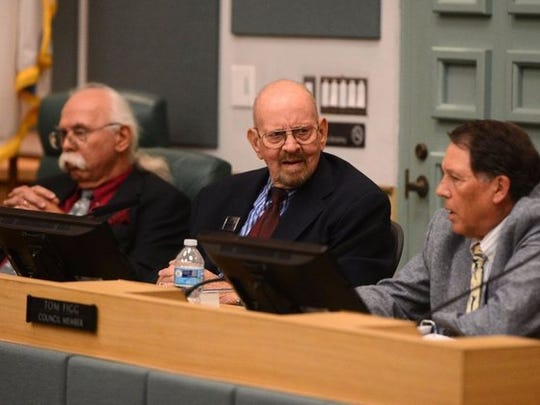 From left are Port Hueneme City Council members Jon Sharkey and Jim Hensley and Mayor Tom Figg.
