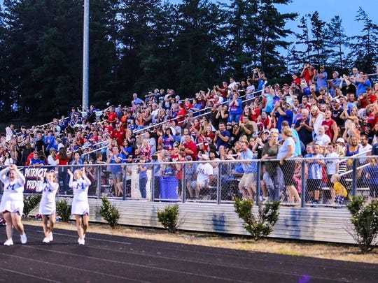 Patriot fans packed the stands for the rivalry game.