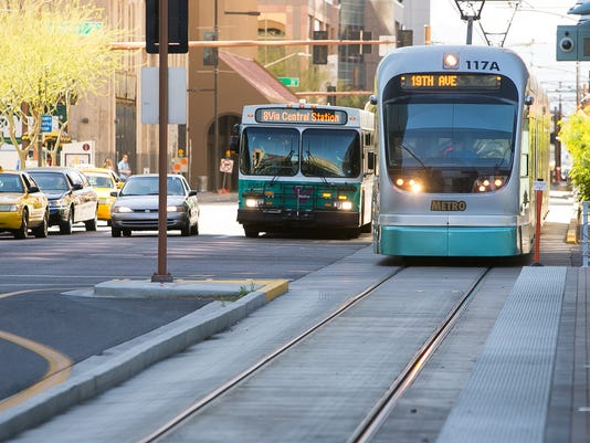 Valley Metro bus and light rail train