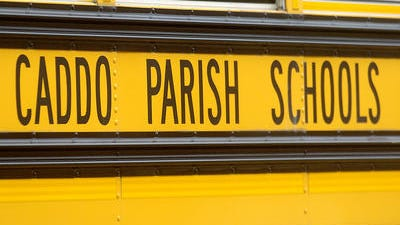 A Caddo Parish school bus