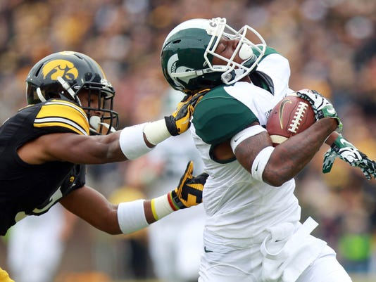 NCAA Football: Michigan State at Iowa