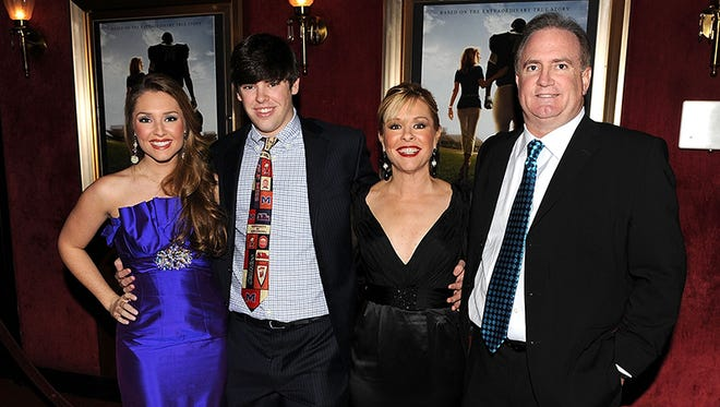 "(L-R) Family film is based on Collins Tuohy, Sean Tuohy Jr. Leigh Anne Tuohy and Sean Tuohy attend the premiere of ""The Blind Side"" at the Ziegfeld Theatre on November 17, 2009 in New York City."