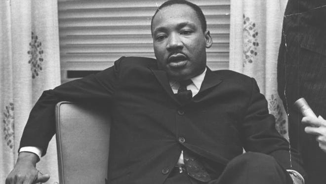 The Rev. Dr. Martin Luther King Jr. during a visit to Rochester on Oct. 25, 1962.