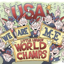 """Cartoonist Doug MacGregor is a Southern Tier native now living in Florida. This Chenango Valley High School graduate was watching last week's Little League World Series championship game and was so moved by Maine-Endwell's victory he sat down and drew this cartoon. """"I am so proud to say I'm from Binghamton for a lot of reasons, but to have World Champs in Little League from Maine-Endwell makes me extra proud,"""" Doug wrote to us, with a copy of the cartoon."""
