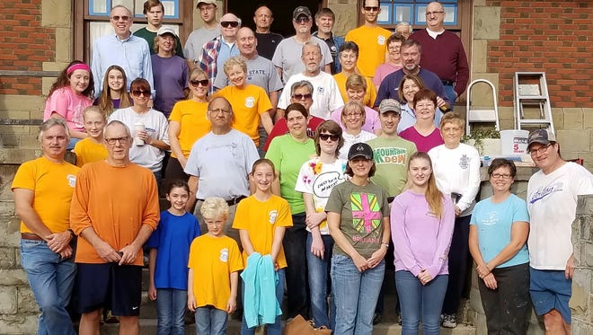 "The Mission Team at Greencastle Presbyterian spent their first ""Freedom Sunday"" sprucing up the home of Boy Scout Troop 99."