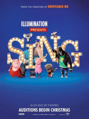 """A free showing of the movie """"Sing"""" is part of the grand reopening of the AbilenePremiere LUX Cinè 10 at the Mall of Abilene Tuesday. Events begin at 10 a.m. and run to 7 p.m."""
