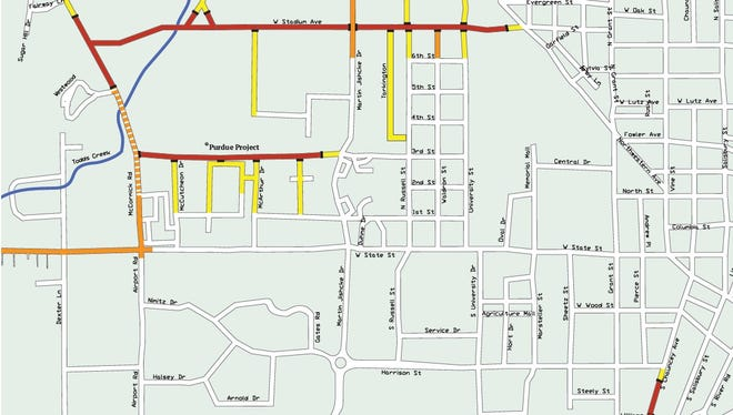The period of May 14 through July 1 will have the most road closures.