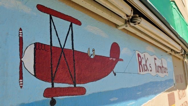 The mural at Rick's Furniture & Consignment Sales at 617 W. Eau Gallie Blvd., in Melbourne. Owner Rick Hester's 15 year old daughter painted it for the store.