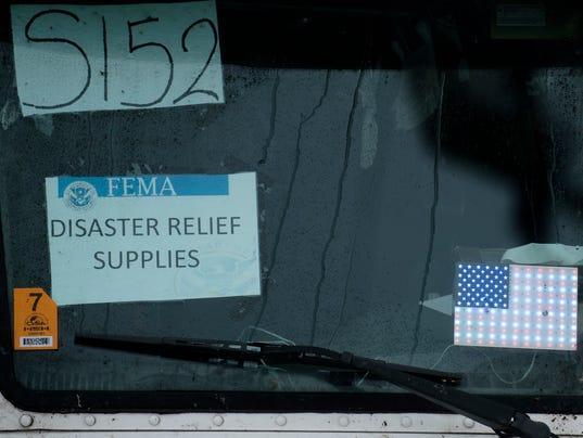 FEMA Trucks Hurricame Irma