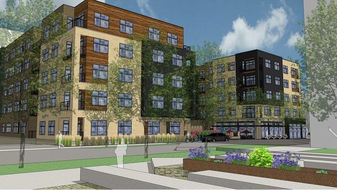 An Indianapolis firm plans to begin construction soon on two apartment buildings at the former Pabst brewery.
